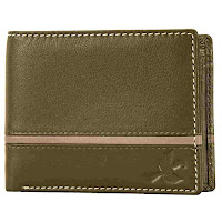 Denial Olive Green Leather wallet