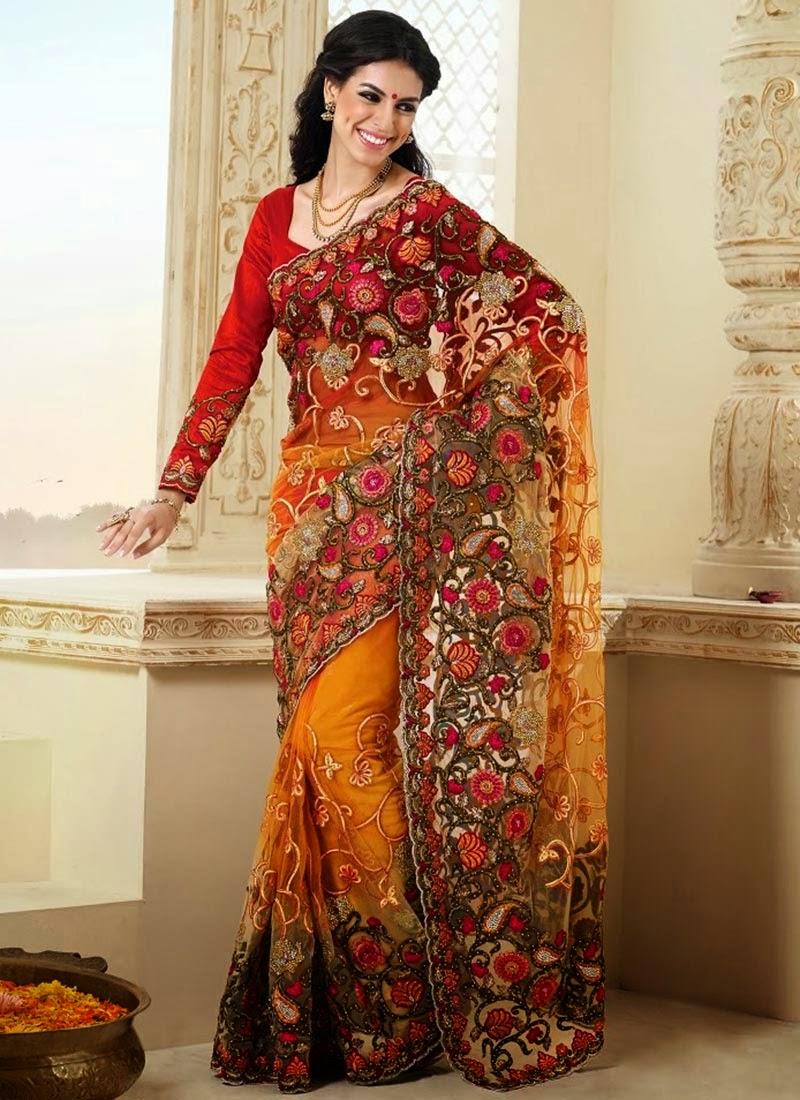 Bollywood Sarees Navels: Bollywood Style Designer Net Lehenga Sarees