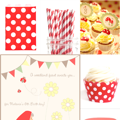 Red & White Little Red Riding Hood Birthday Party Ideas