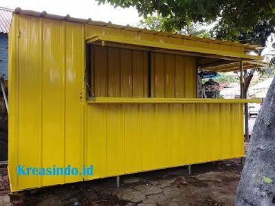 10+ Model Booth Semi Container Besi Desain Terbaru dan Modern
