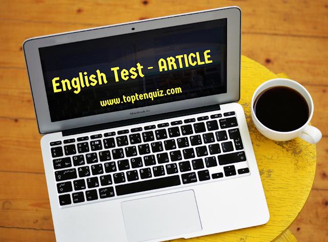 English Grammar Test- Article  II PSC II RRB