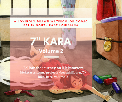 "7"" Kara Kickstarter Launch graphic"