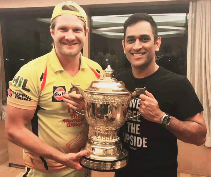 Shane watson and IPL Indian cricketer MS Dhoni