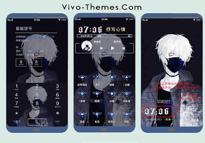 Black Light on Phone Theme For Vivo Android