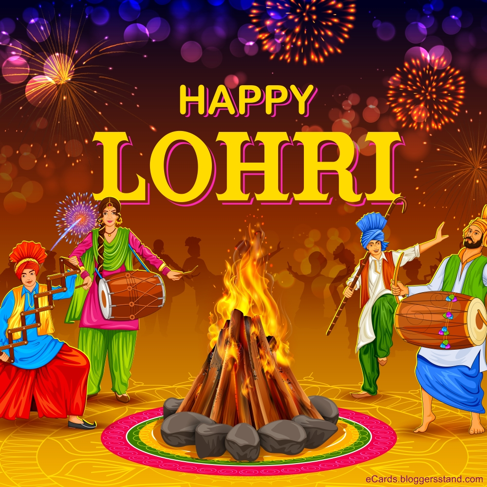 Happy lohri HD wallpapers download for whatsapp and facebook