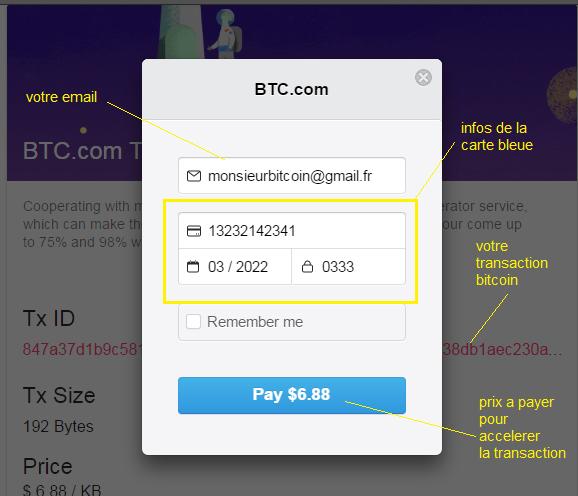 blockchain transaction non confirmée