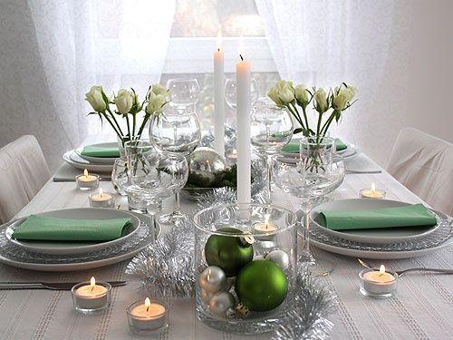 En Navidad ilumina tu mesa con luces o velas