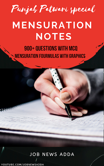 Mensuration Notes For Punjab Patwari Exams|| 900+ Questions with MCQ