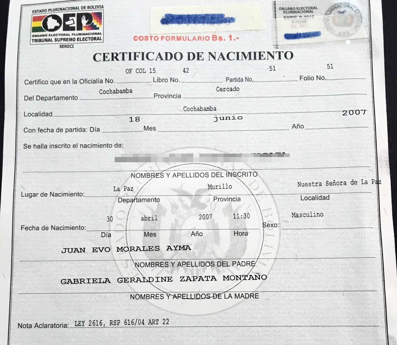 Lujoso Solicitan Un Certificado De Nacimiento Foto - Certificado ...