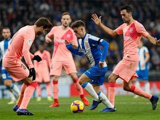 نتيجه مباراة برشلونة واسبانيول يلاشوت حصري اليوم 30-3-2019 انتهت بفوز برشلونه 2 - 0