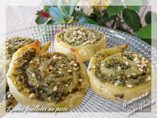 Roulés feuilletés apéritif au pesto (basilic)