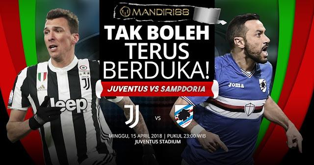 Prediksi Juventus Vs Sampdoria, Minggu 15 April 2018 Pukul 23.00 WIB