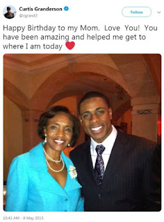 Curtis Granderson With His Mother Mary Granderson