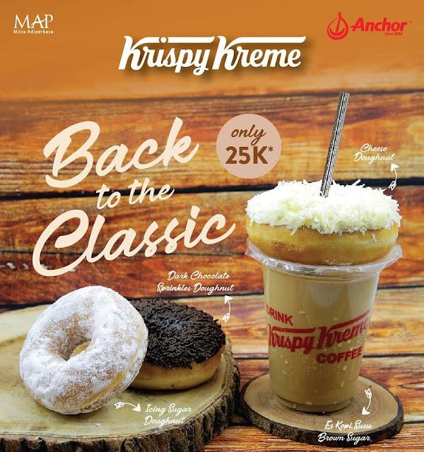 Krispy Kreme Back To Classic Promo Kopi Susu Brown Sugar + Doughnut Cuma 25K