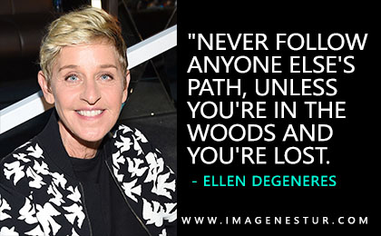 Here you get the most famous inspirational & motivational Ellen DeGeneres Quotes and Ellen DeGeneres Sayings and phrases with aesthetic quote images.
