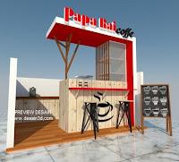 Design booth unik dan elegan