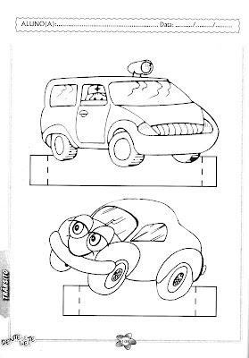 Maquete de Meios de Transporte para Trabalhar com Educação no Trânsito