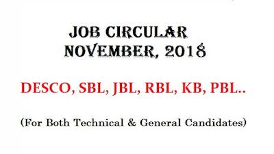 New Job Circular: November, 2018