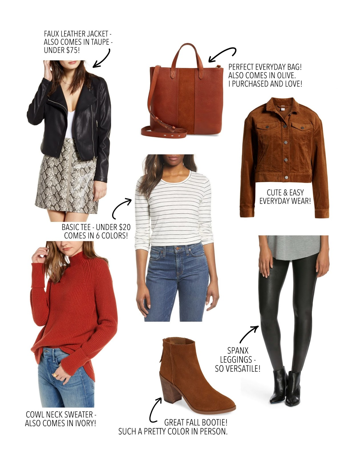 Fall clothing staples for your closet