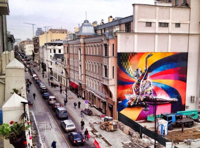 """The Dancer"" By Eduardo Kobra, a Street Art tribute to Maya Plisetskaya, one of the leading names in Russian ballet. 2"