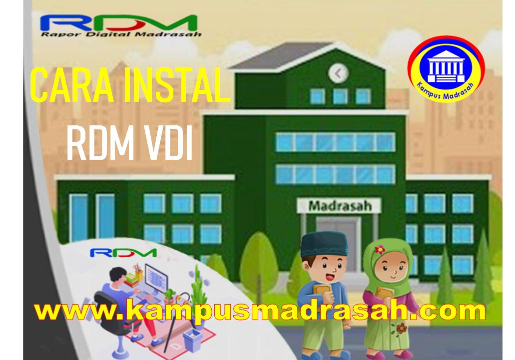 Instal RDM Versi VDI