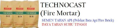 Technocast Fire Mortar - Semen Tahan Api - Pelekat Bata Tahan Api
