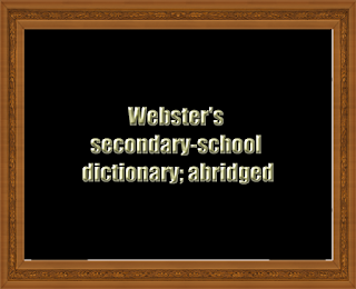 Webster's secondary-school dictionary