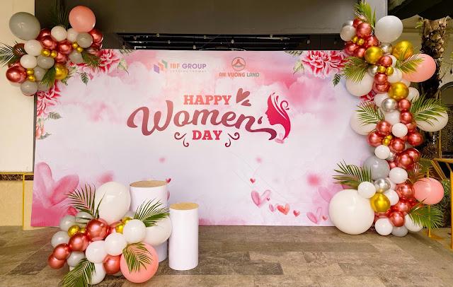trang trí backdrop ngày phụ nữ việt nam