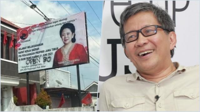Soal 'Open BO' Baliho Puan, RG: Kalau Ditulis Dukung Jokowi, Pasti Nggak Dianggap Vandalisme