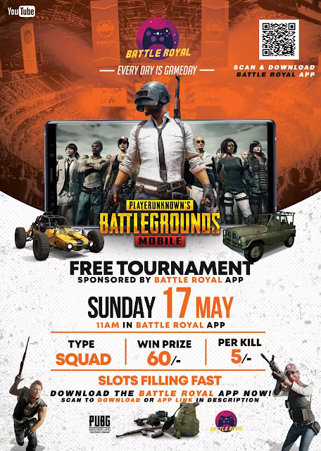 PUBG Mobile: Free PUBG Tournament with Great Prize Money (Every Kill Counts🤑)