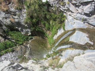 Looking down at Trail Canyon Falls