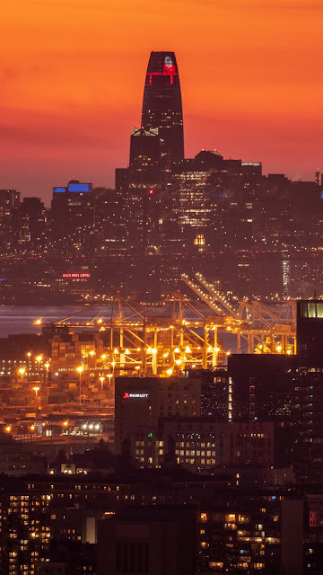 Free HD Wallpaper Sunset City At Sunset