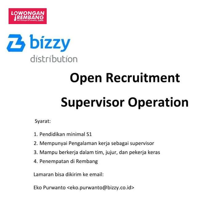 Lowongan Kerja Supervisor Operation Bizzy Distribution Rembang