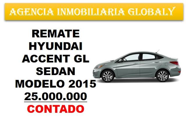 REMATE CARRO HYUNDAI ACCENT GL  2015