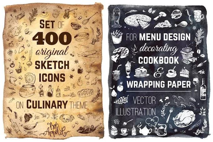 CreativeMarket Hand-drawn Cooking and Food Icons 682355