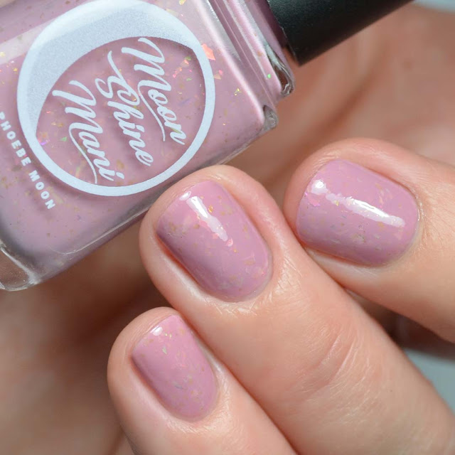 mauve nail polish with flakies