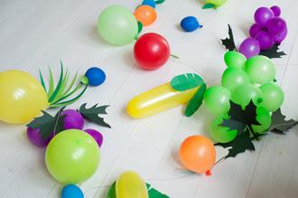 Cách làm bóng bay hình hoa quả trang trí sinh nhật cho bé 5