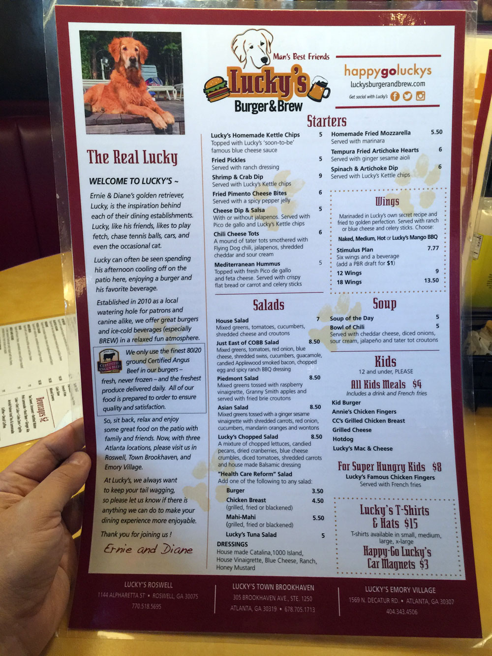 Independent Restaurant Review: Luckys Burger and Brew - Brookhaven ...