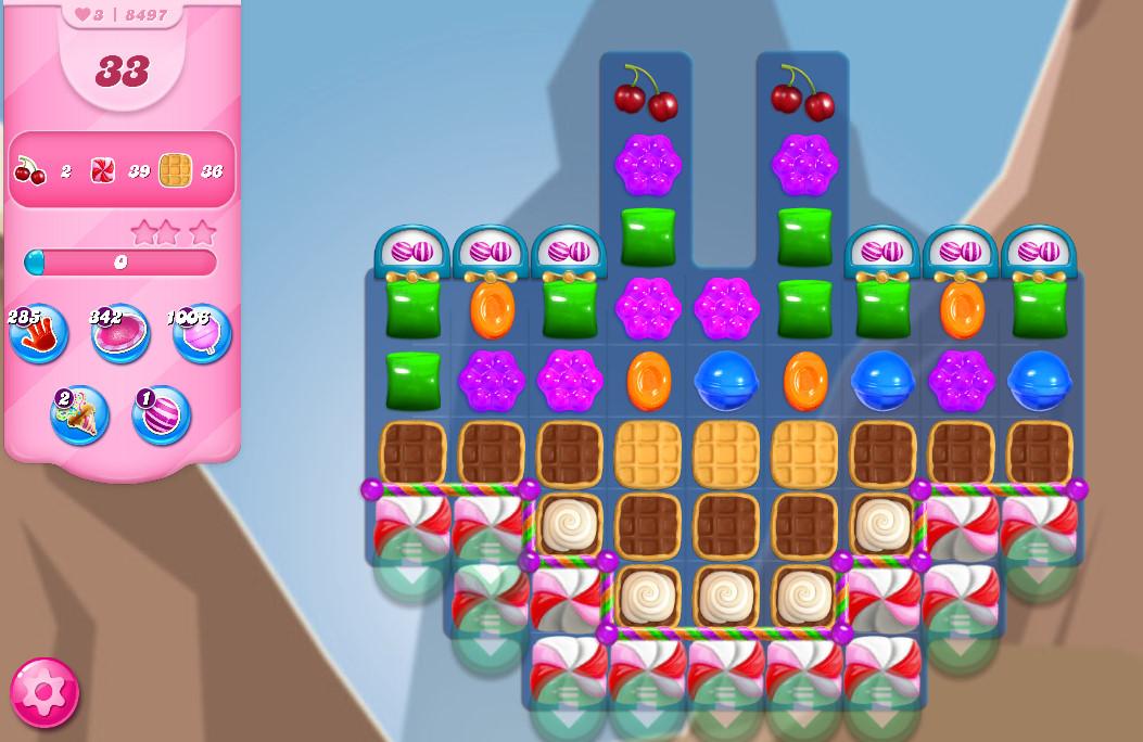 Candy Crush Saga level 8497