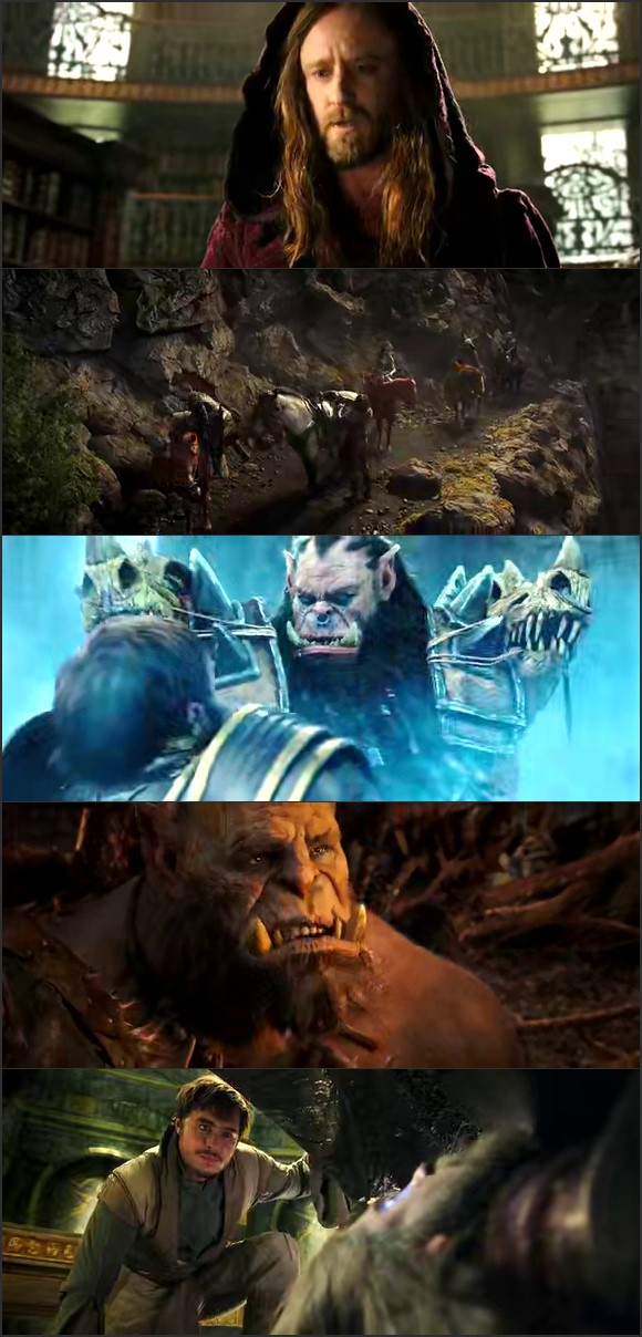 Screen Shot Of Warcraft 2016 English Movie Hindi Dubbed Free Download 100MB HEVC For Mobiles