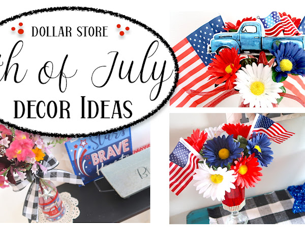 New Video Up! 4th of July centerpiece decor ideas