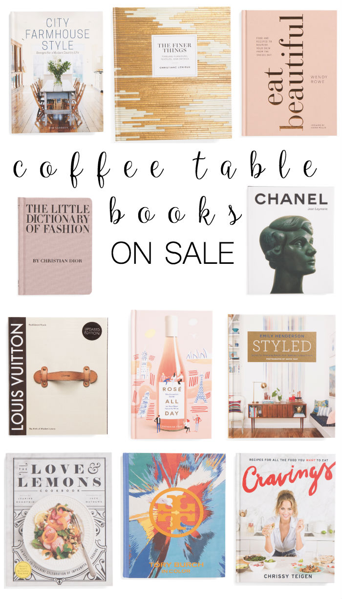 Coffee table books on sale