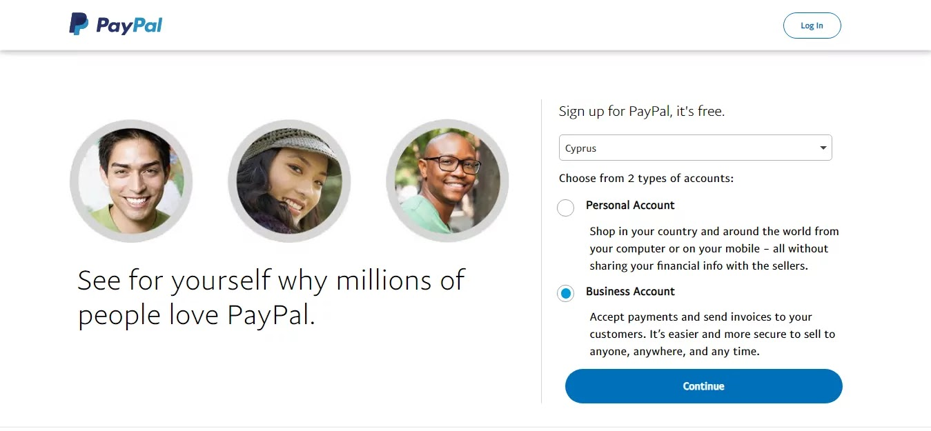 PayPal account sign up in Nepal