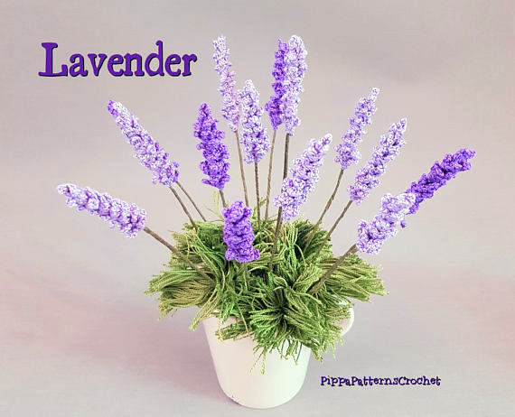 lavender flower crochet pattern