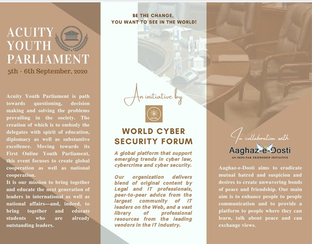 [Online] Acquity Youth Parliament by World Cyber Security Forum [Register by 25 August 2020]
