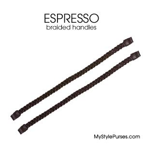Miche Espresso Brown Braided Handles