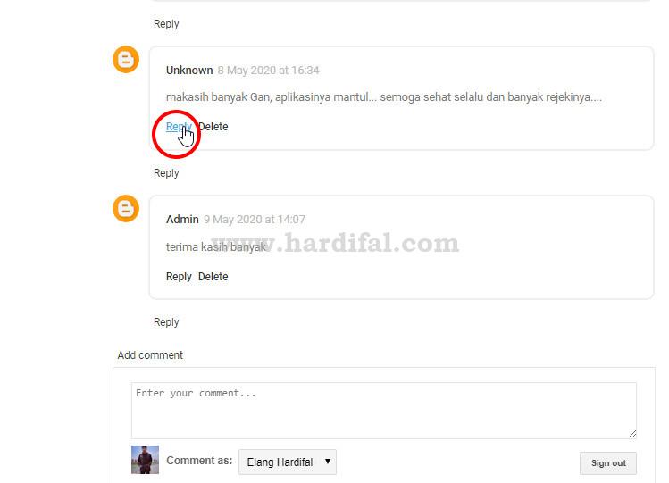 mengatasi tombol balas komentar blog tidak berfungsi