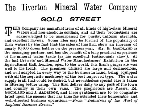 The Tiverton Mineral Water Company