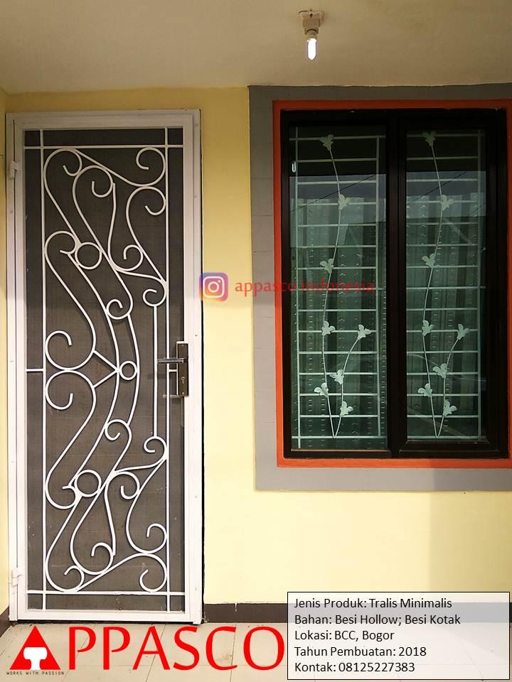 Pintu Teralis Minimalis Modern di BCC Bogor