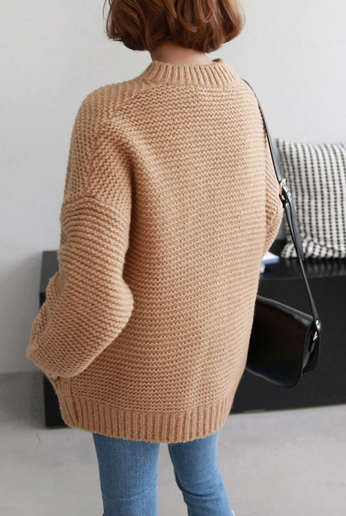 Zip-Front Knit Cardigan
